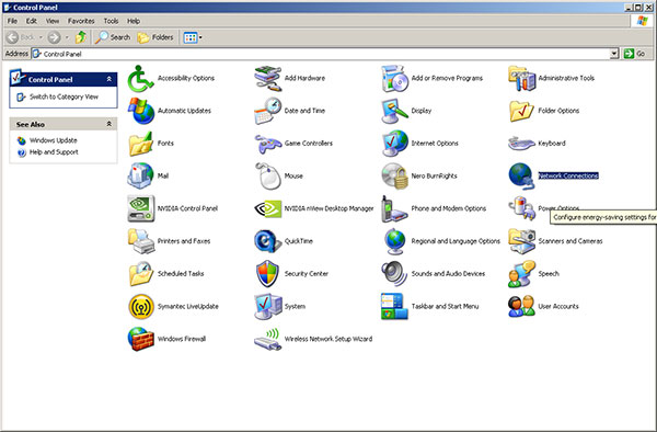 win-xp-control-panel Searchbaron.com
